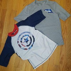 EUC boys sz M swim shirts bundle